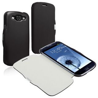 BasAcc Leather Case with Magnetic Flap for Samsung Galaxy S III i9300