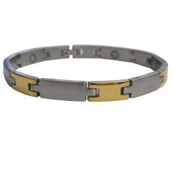Magnetic Stainless Steel Thick H Bracelet