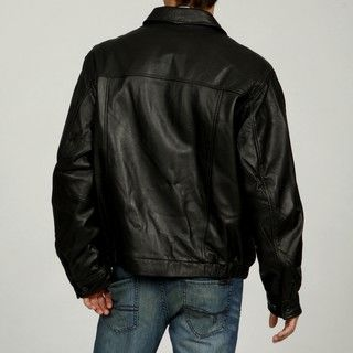 Chaps Mens Classic Leather Jacket