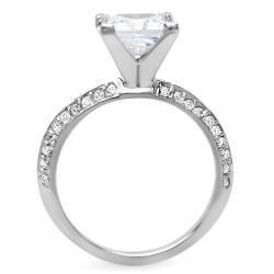 Anillo de compromiso con diamantes de claridad realzada, peso total 2
