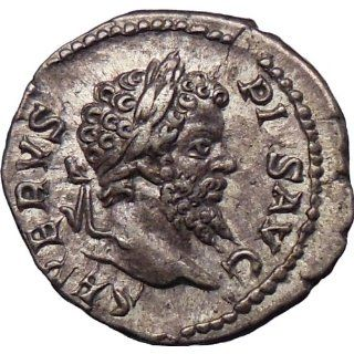 Septimius Severus 205AD Rare Ancient Silver Roman Coin Nude Jupiter