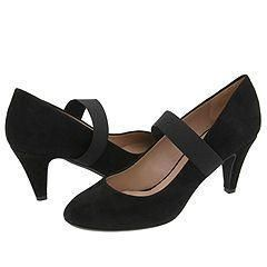 DKNY Mindy Mary Jane Pump Black Fine Suede