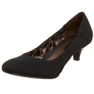 Bandolino Womens Benelli Pump,Black/Black Fabric,5 M US Shoes