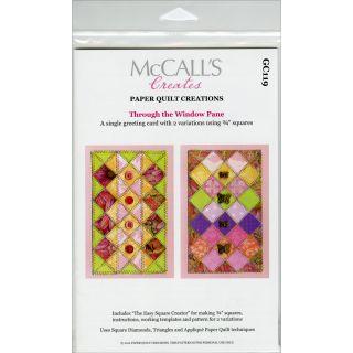 Paper Quilt Pattern Through The Window Pane