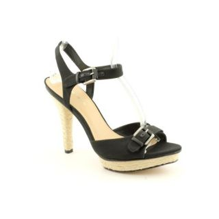 Cain Open Toe Platforms Sandals Shoes Black Womens New/Display Shoes