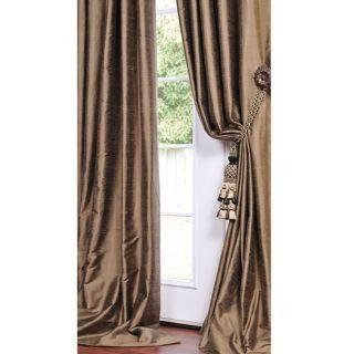 Antique Gold Moss Textured Silk 120 inch Curtain Panel