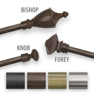 Adjustable Curtain Rod Set with Forey Finial Today $34.99   $41.99 5