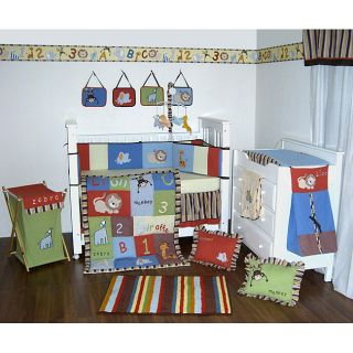 Bacati ABC Multicolor 12 piece Crib Bedding Set