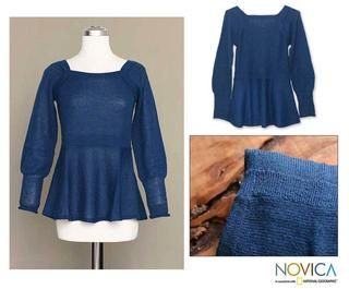 Alpaca Wool Always Azure Sweater (Peru)
