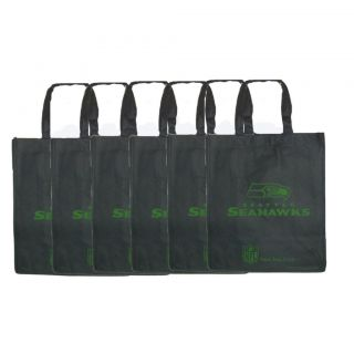 Seattle Seahawks Reusable Bags (Pack of 6)
