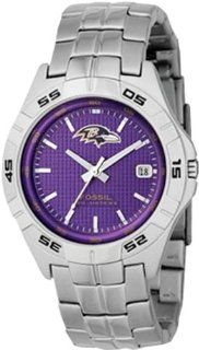 Fossil Mens NFL1157 NFL Baltimore Ravens Round Dial Watch Watches