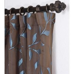 Textured Vine Chocolate 120 inch Jacquard Curtain Panel