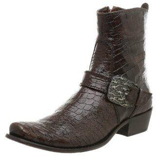 Donald J Pliner Mens TJ Buckle Boot,Brown,7.5 M Shoes