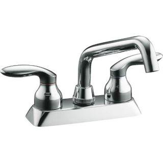 Kohler K 15270 4 CP Polished Chrome Coralais Laundry Sink Faucet With