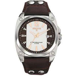 Montre Hector H pour Homme style Mode avec bracelet en Cuir et cadran