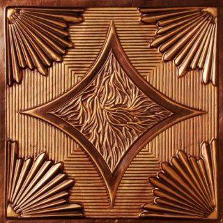 201 Faux Tin Drop In Ceiling Tiles 24x24   Antique Copper