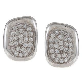 La Preciosa Sterling Silver Cubic Zirconia Oval Earrings MSRP $89.99