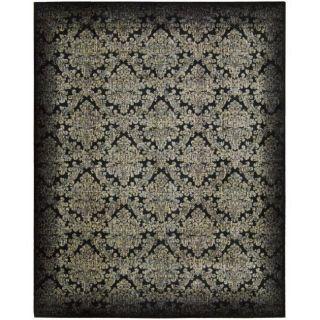 Chambord Black Floral Rug (56 x 75)