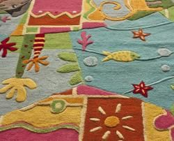 Handmade Luna Kids Jungle Wool Rug (5 x 7)
