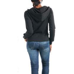 Stanzino Womens Black Floral Hoodie