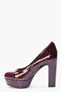 Marc By Marc Jacobs Brown Patent Leopard Print Pumps for women