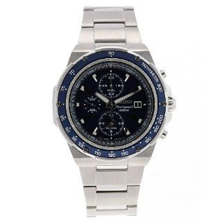 Seiko Mens SNAD81 Chronograph Stainless Steel Blue Dial Watch