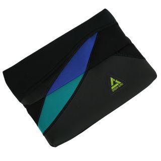 Green Guru Black/Blue/Green Recycled 15 inch Protective Laptop Sleeve