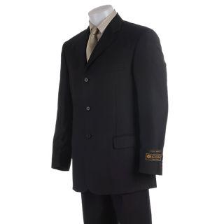 Stefano Genovese Mens Super 130 Loro Piana Black Suit