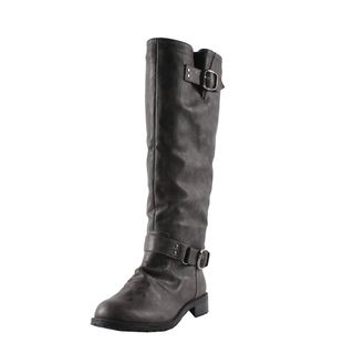 Elegant by Beston Womens Dillian 7 Black Riding Boots
