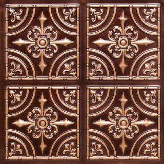 205 Faux Tin Ceiling Tile Glue up (24x24) Antique Copper