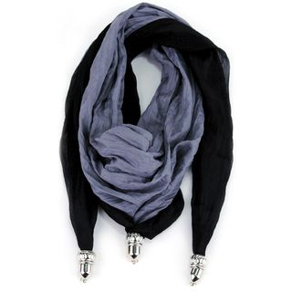 Laliberi Scarf Reversible Triangle Black/Grey