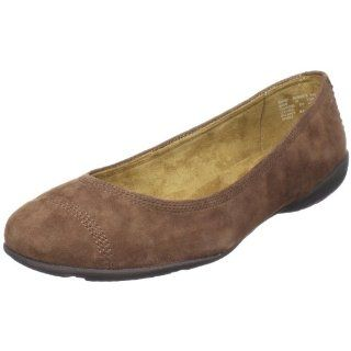 Rockport Womens Laura Cap toe Ballet Flat,Luggage,7.5 W US Shoes