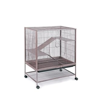Prevue Pet Products Small Brown Metal Cage with Pull out Bottom Tray