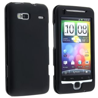 Black Snap on Rubber Coated Case for HTC / T Mobile G2