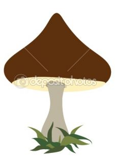 Cartoon mushroom  Stock Vector © Alexander Ryabintsev #1126053