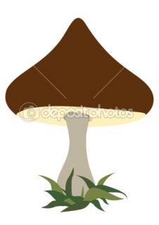 Cartoon mushroom  Stock Vector © Alexander Ryabintsev #1126053