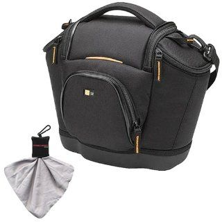 Logic Digital SLR Medium Shoulder Camera Bag/Case (Black) (SLRC 202