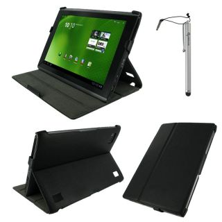 rooCASE Acer Iconia Tab A500 Leather Folio Case with Adjustable Stand