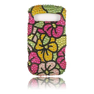 Luxmo Green Hawaiian Flower Rhinestone Case for Samsung Admire/ R720