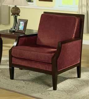 Logan Cranberry Chenille Chair