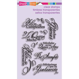 Stampendous Perfectly Clear Stamps 4X6 Sheet Spanish Greetings Today