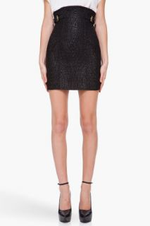 Balmain Black Blend Textile Skirt for women
