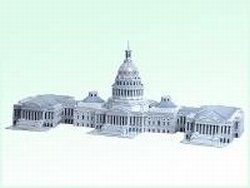 3D Washington Dc Capitol Hill Usa Puzzle Model Toys