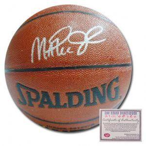 Magic Johnson Los Angeles Lakers Hand Signed Spalding NBA