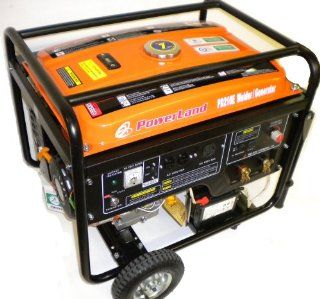 Powered Portable Generator/210 Amp Welder Combo Patio, Lawn & Garden