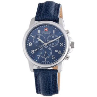 Swiss Military Mens Swiss Soldier Stainless Steel Blue Dial