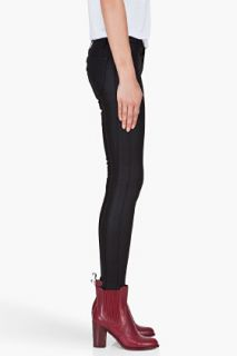 Marc By Marc Jacobs Skinny Black Cropped Seam Jeans for women