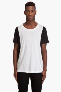 Bscott Black & White Panel T shirt for men