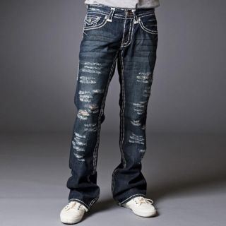 Laguna Beach Jean Company Mens Balboa Beach Destroyed Denim