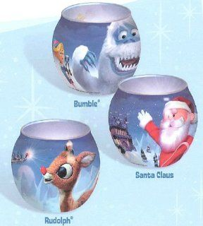 Rudolph the Red Nosed Reindeer Votives Set of 3 Home